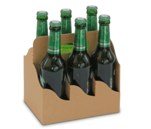 6er Flaschenträger aus Wellpappe