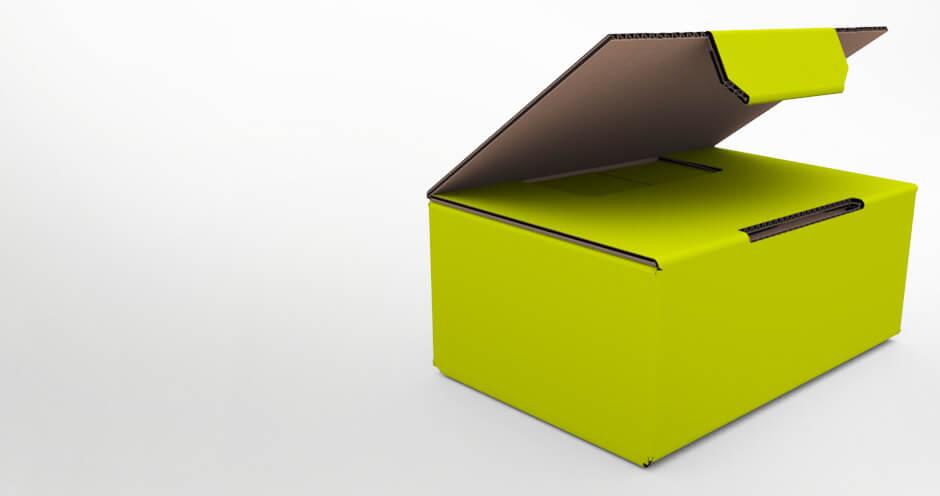 Sichere Versandverpackung mit einmaligen Click-System