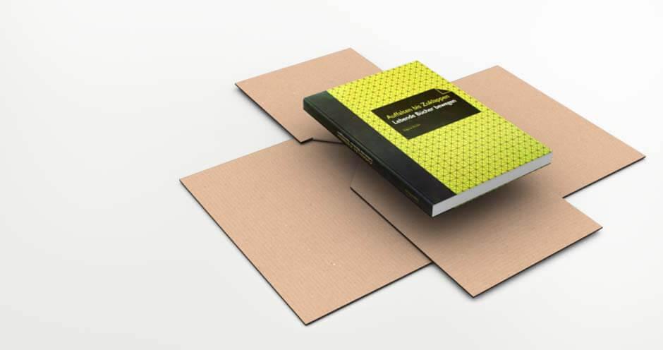 Recyclebare Verpackung für quaderförmige Packstücke