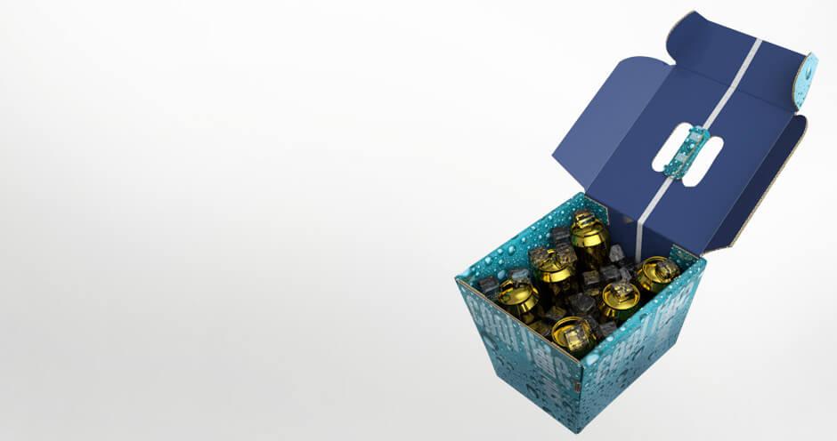 Wasserdichte Kühlbox aus Wellpappe