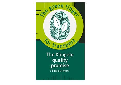 The green finger for transport - The Klingele quality promise