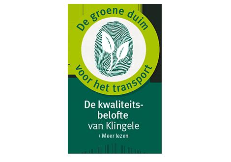 De groene duim voor het transport - De kwaliteitsbelofte von Klingele