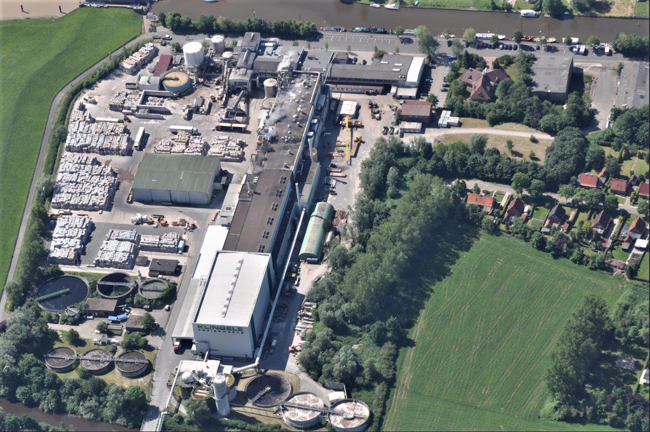BU: Papierfabrik am Standort Weener in Ostfriesland