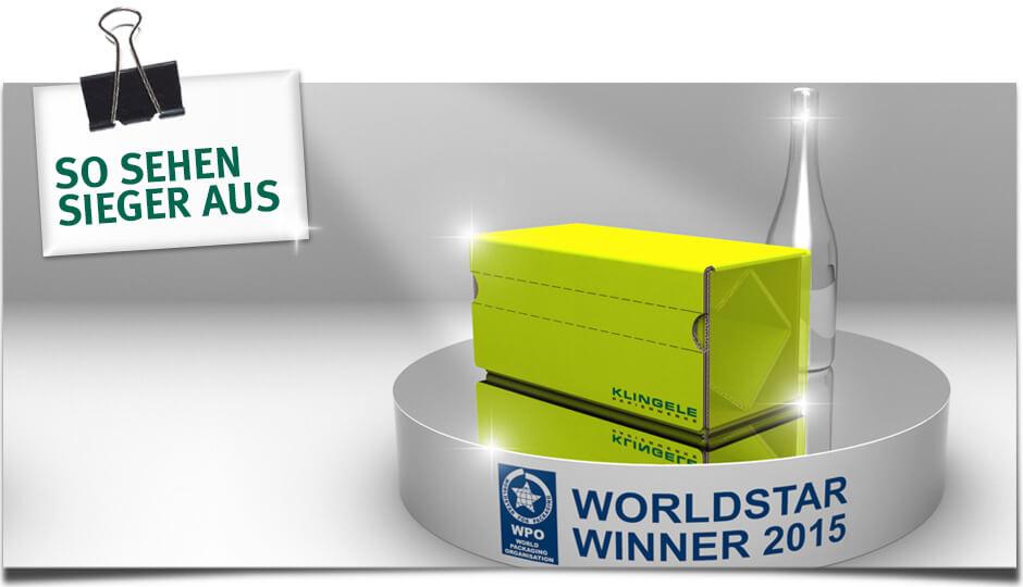 Worldstar Award Winner 2015 - So sehen Sieger aus!