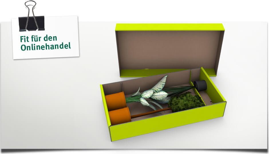 Fit für den Onlinehandel - Klinegele Pflanzenversandverpackung