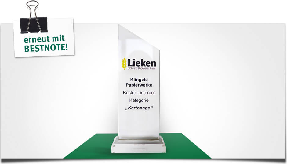 Lieken Suppliers Award 2015 - erneut: BESTNOTE