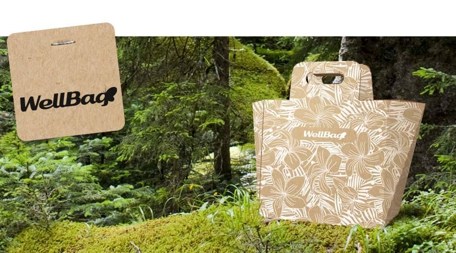 Wellbag - Die innovative Einkaufstasche aus Wellpappe von Klingele