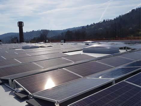 Die Klingele Photovoltaikanlage in Grunbach.