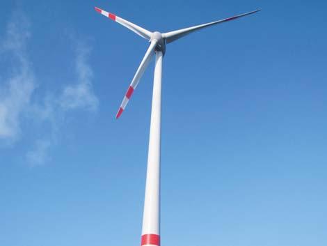 Klingele Windkraftanlage in Weener. 3 MW Strom pro Jahr.