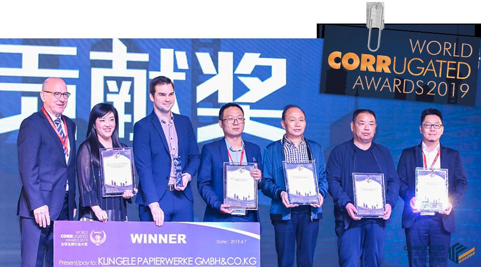 Klingele erhält den World Corrugated Award 2019