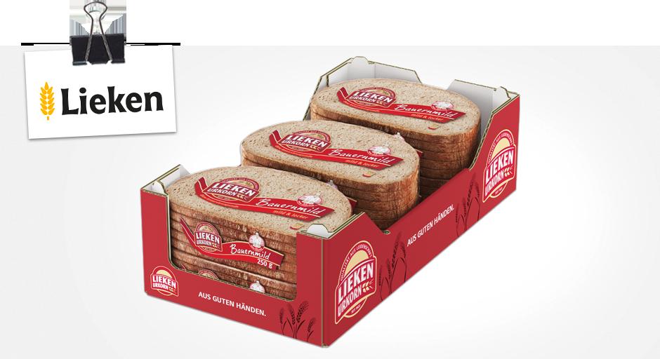 Lieken Bauernmild - Verpackung aus Wellpappe optimiert von Klingele mit D-Welle