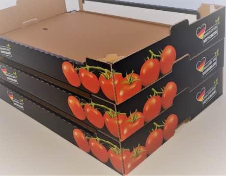 Tomatensteige aus Wellpappe - Lebensmittelverpackung - Franken Gemüse
