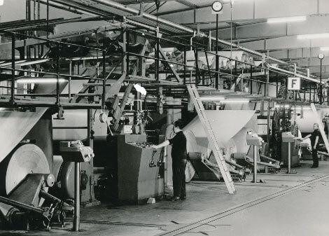Klingele - Wellpappenherstellung in den 1960er Jahren
