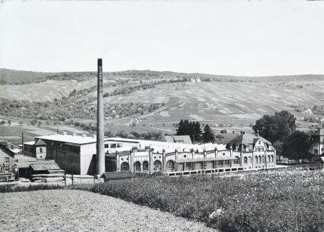 Wellpappenwerk Grunbach im Jahr 1936