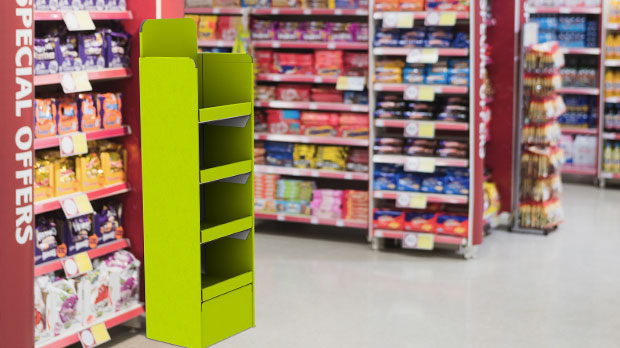 Innovatives ZIP-Display von Klingele in Supermarkt