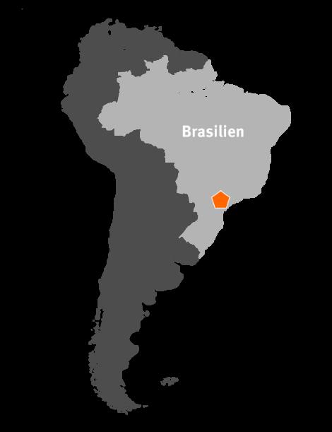 Standort der neuen Papierfabrik von Klingele in Brasilien