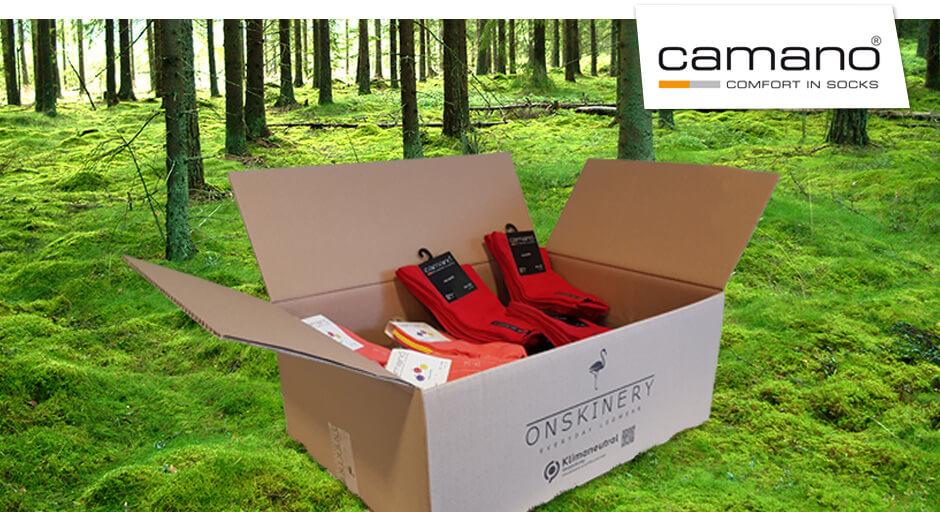 Klimaneutrale Verpackung für camano