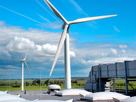 Unternehmenseigene Windkraftanlage