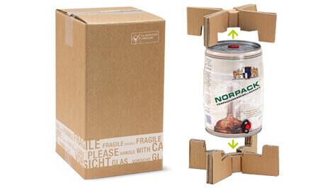 [Translate to englisch:] Versandverpackung für 5l-Fass