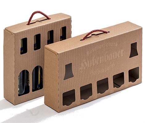 Hochwertige Trageverpackung für Flaschen
