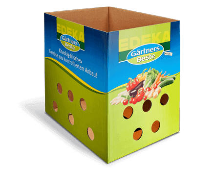 Halbwellkiste für Obst und Gemüse mit Belüftungsöffnungen