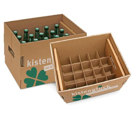 Kistenglück, der flexible und umweltbewusste Getränkekasten aus Wellpappe