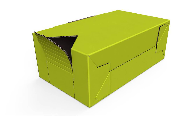 Folding shelf packaging