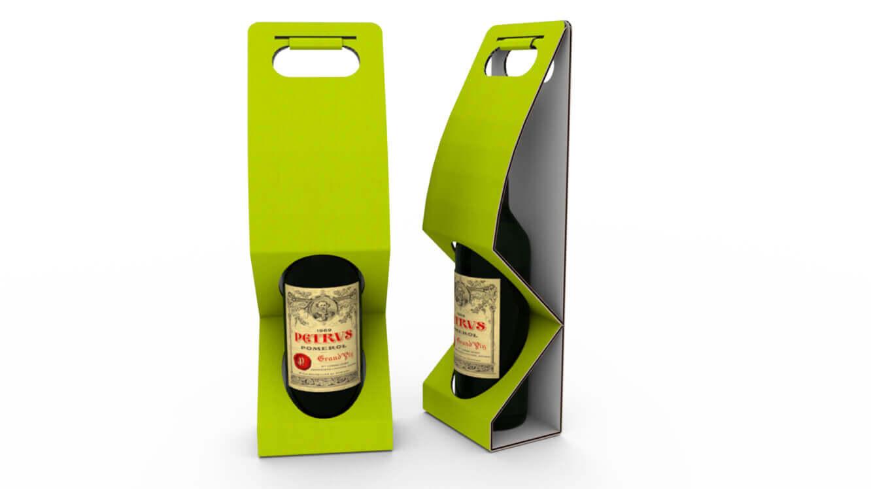 Präsentverpackung für Wein - mit Tragegriff