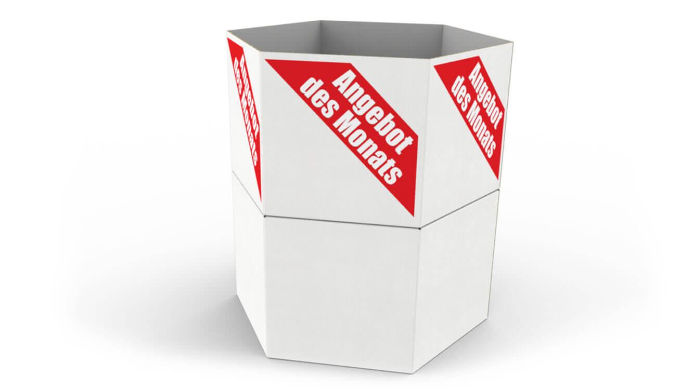 Verkaufsschütte - für den Abverkauf von Aktionsware