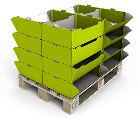 Logistikdisplay - Klappschütte