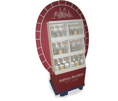POS-Display für Getränke - Schlitzer Destillerie