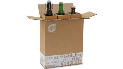 Versandverpackung für Flaschen- sicherer Versand weltweit durch den Schutz von extra starker Wellpappe!