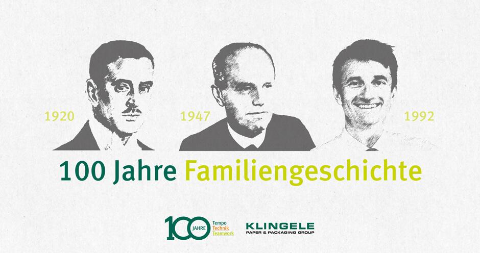 100 Jahre Familiengeschichte - KLINGELE Paper & Packaging Group
