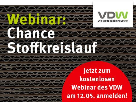 """Kostenloses Webinar """"Chance Stoffkreislauf"""" des VDW"""