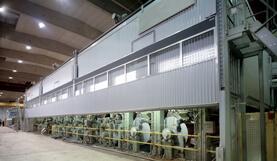 Neue Papiermaschine für die Papierfabrik Weener