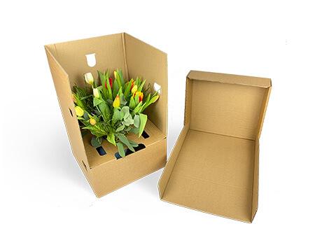 Umweltfreundliche Blumenstraußverpackung mit Deckel