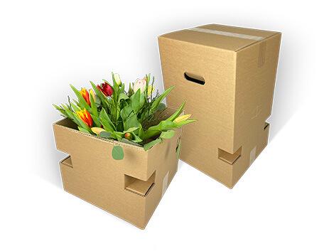 Zweiteilige Blumenstraußverpackung