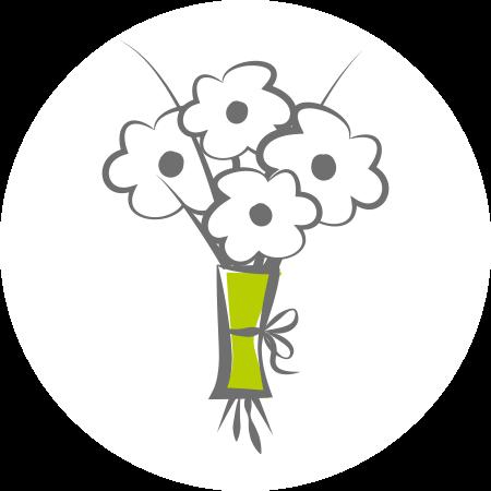 Skizzierte Abbildung zarter Jungpflanzen