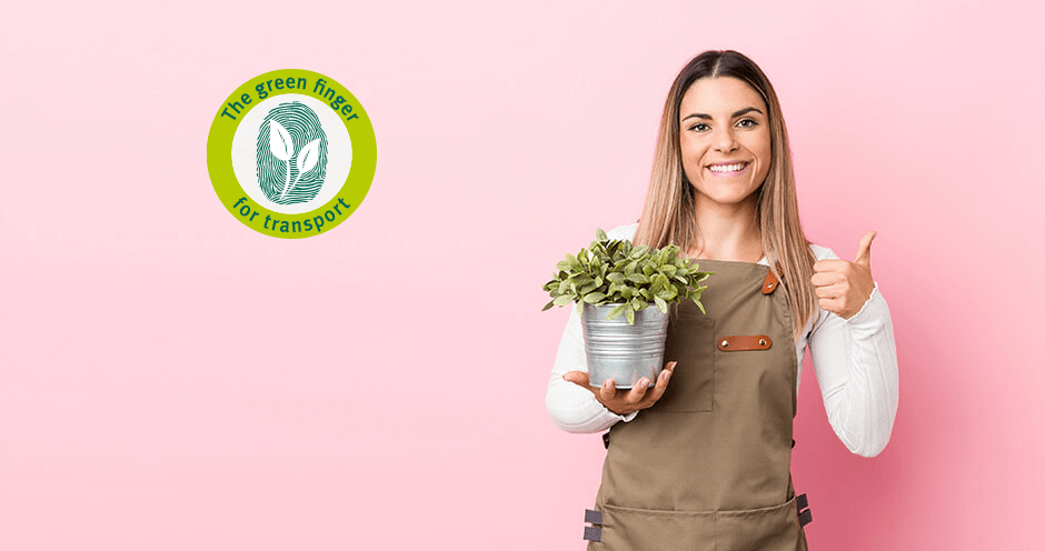 Sustainable packaging with the green finger