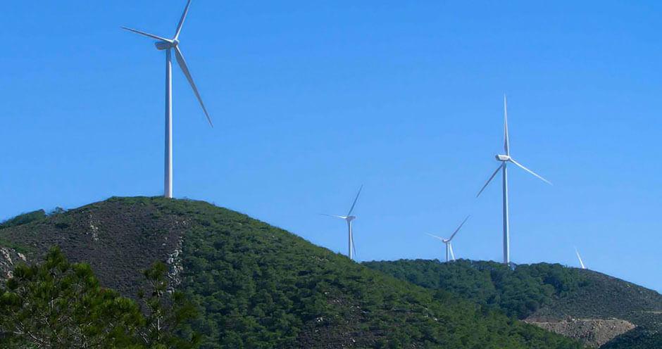 Windpark in Tanger-Tétouan, Marokko