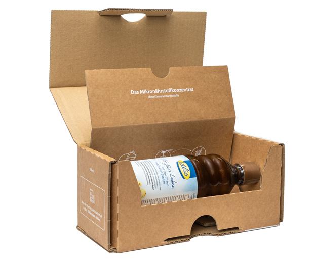 Klimaneutrale Versandverpackung für Flaschen