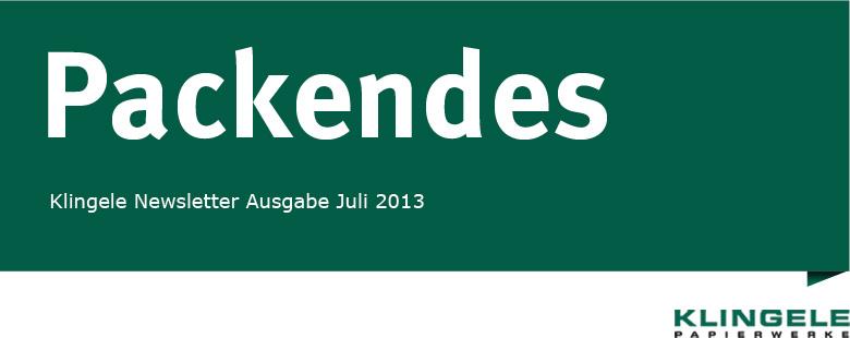 Packendes - Klingele Newsletter Ausgabe Juli 2013