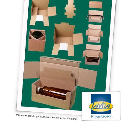 Maximaler Schutz, gute Konstruktion, einfaches Handling! - Flaschenverpackung für den Versand