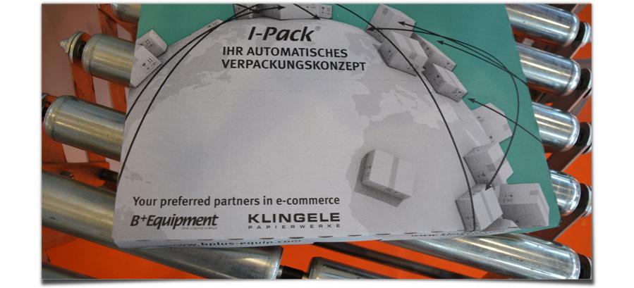 B+Equipment und Klingele: I-Pack Ihr automatisches Verpackungskonzept