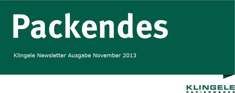 Packendes - Klingele Newsletter Ausgabe November 2013