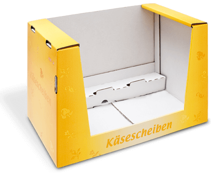 Shelf-Ready-Verpackung für Scheibenkäse