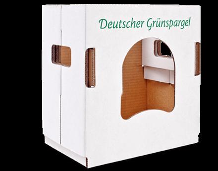 [Translate to niederländisch:] Transport- und Verkaufsverpackung für Spargel